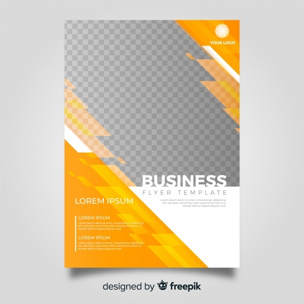 Free Modern business flyer template with abstract design SVG DXF EPS.