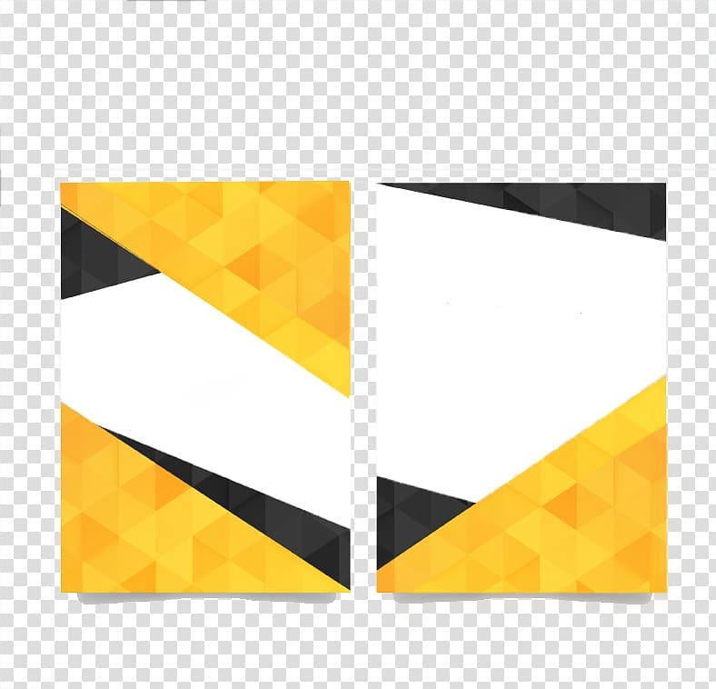 Yellow, white, and black illustration, Flyer Template Brochure.