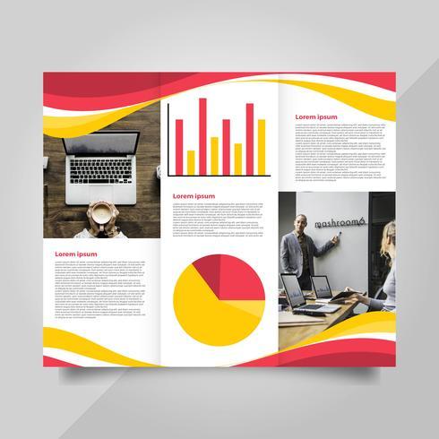 Flat Modern Professional Brochure Vector Template.