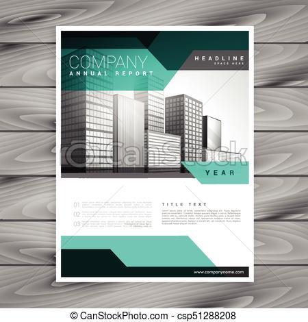elegant company leaflet business brochure vector template design.