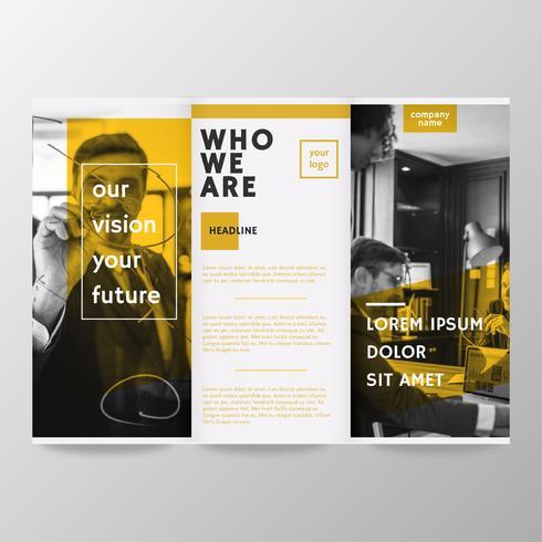 Brochure Template Vector Design.
