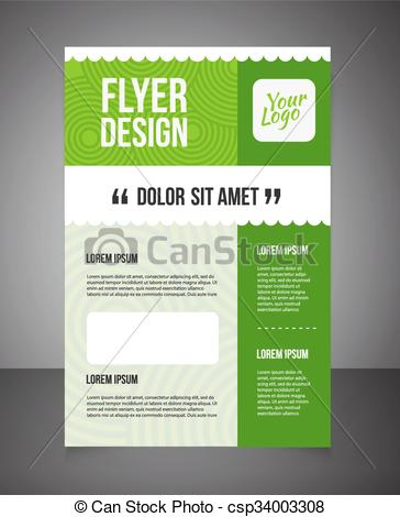 Business brochure or offer flyer design template. Brochure design, blank,  print design, flyer with text. Flyer template. Business brochure background.