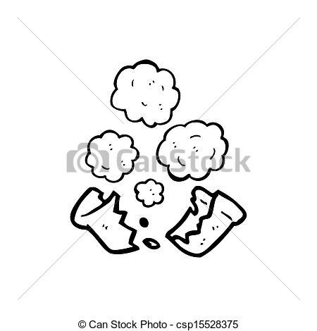Stock Illustrations of broken flower pot cartoon csp15528375.