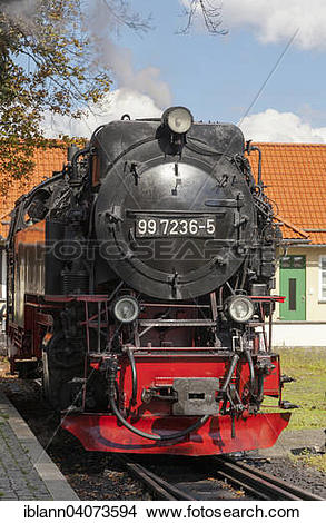 Stock Photo of Steam locomotive of the Brocken Railway, a narrow.