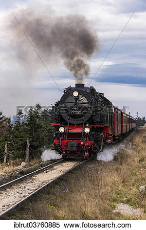 "Stock Image of ""Steam engine, Brocken Railway ascending, Brocken."
