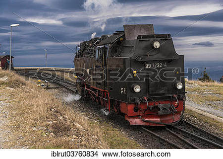 "Stock Photo of ""Brocken Railway, shunting locomotive, Brocken."