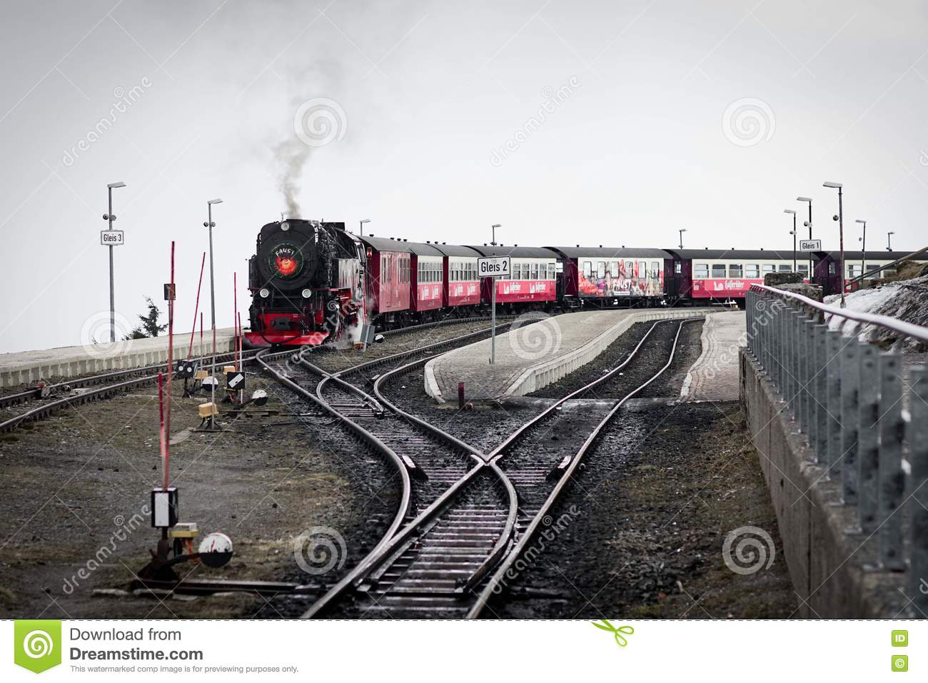 Steam Train, Broken, Harzberg, Germany Editorial Image.