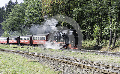 Harz Narrow Gauge Steam Train, Germany Royalty Free Stock Images.