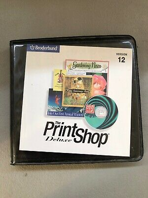 BRODERBUND THE PRINT Shop Deluxe Version 12 (2001, PC) Clip Art Cards  Clickart.