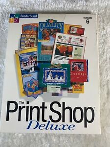 Details about Broderbund The Print Shop Deluxe Version 6 (1998, PC Win 95)  Clickart Clip Art.