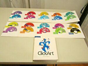 Details about Broderbund ClickArt 300,000 Clip Art Images COMPLETE 18 CD  set with Manual.
