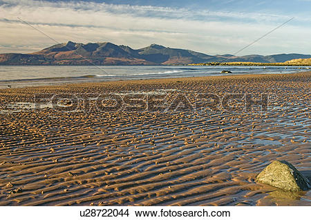 Stock Photo of Scotland, Ayrshire, Portencross, The Isle of Arran.