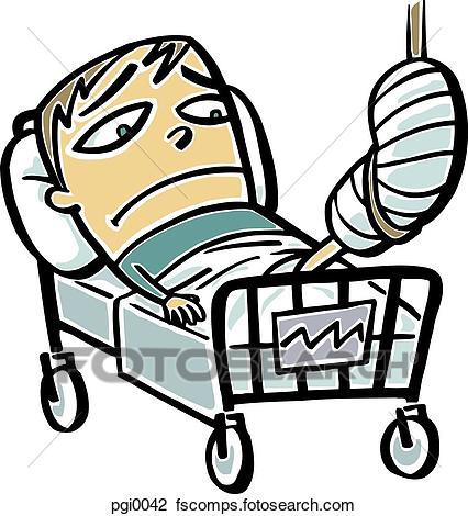 Broken Leg Cartoon Clipart.
