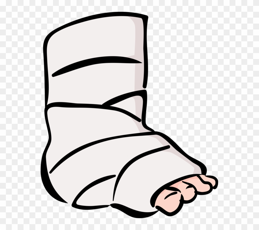 Accident Patient With Ankle Vector Image Illustration.