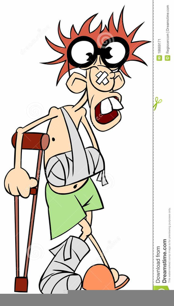 Man With Broken Arm Clipart.