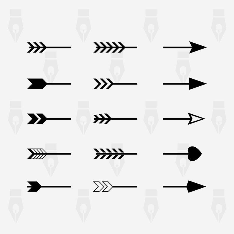 Split Arrow svg, Split Arrow digital clipart file for Design, Printing,  Cutting or more. Instant files included svg, png, dxf.