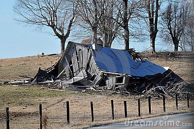 Broken Barn Stock Photos.