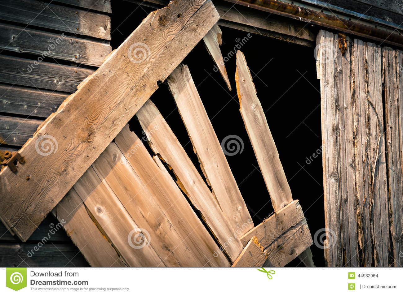 Old Barn Door Stock Photo.