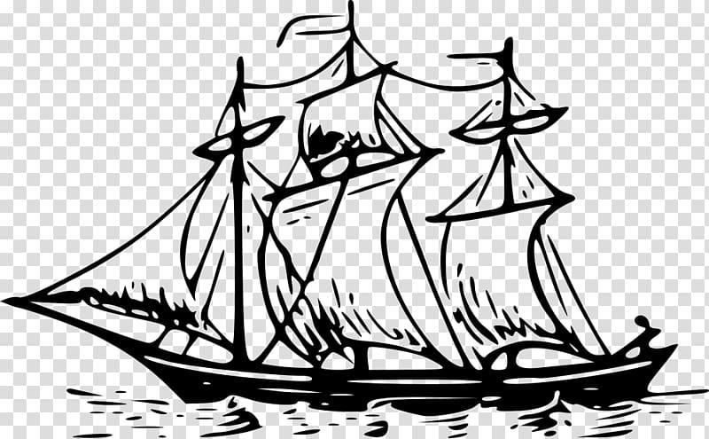 Brigantine Drawing Mast Sailing ship , Ship transparent.