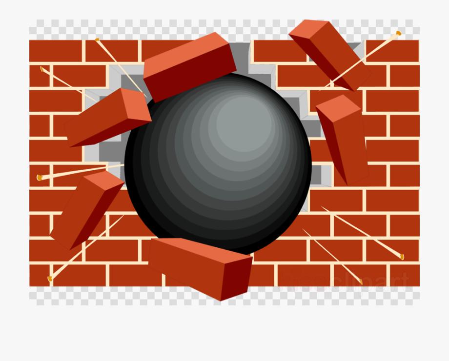 Broken Brick Wall Clipart.