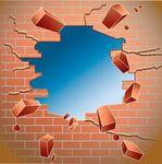 broken wall clipart.