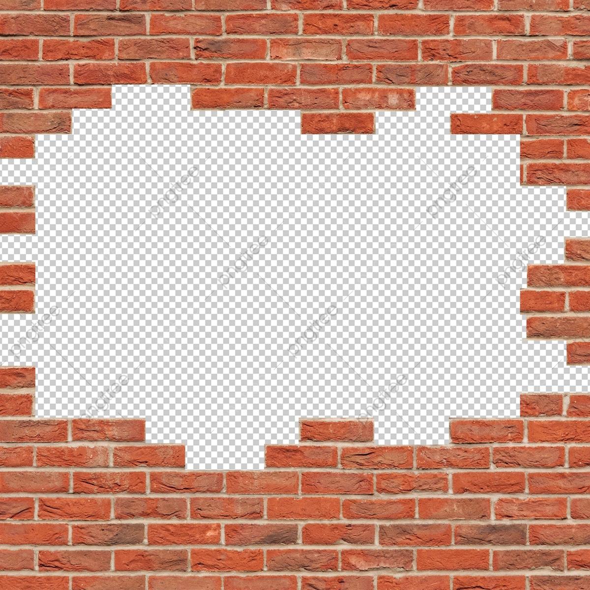 Broken Wall Brick, Wall, Break, Effect PNG Transparent Clipart Image.