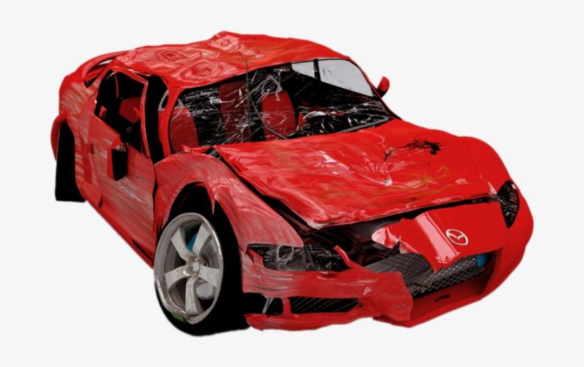 Broken Car Transparent Background PNG Image.