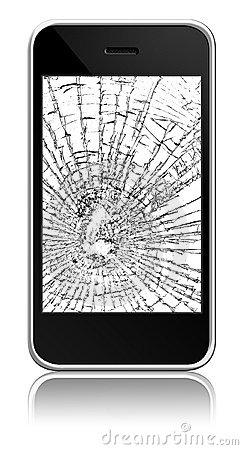 Broken Cell Phone Clipart.