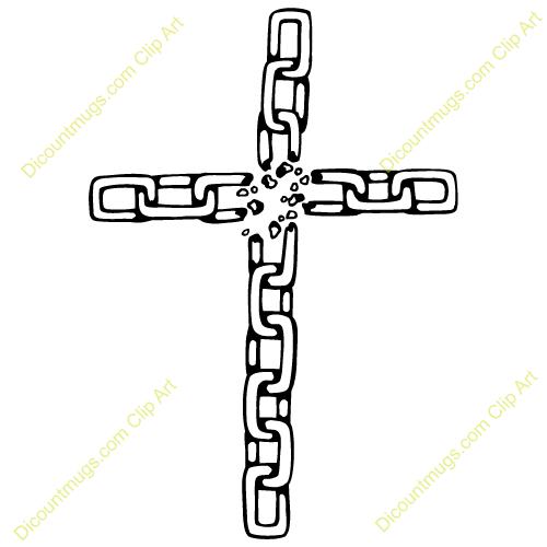broken, chain, cross.