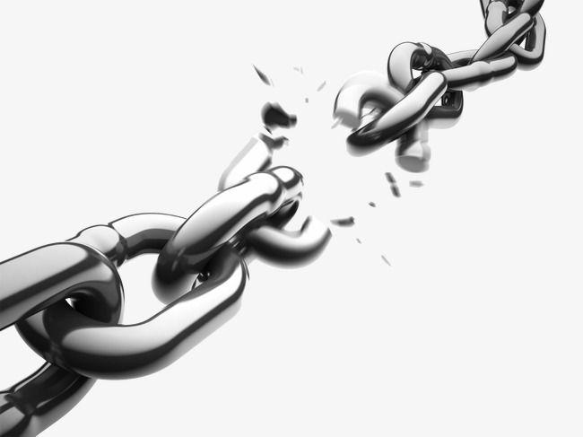 Broken Chain, Chain, Popular, Fashion Elements PNG Transparent.