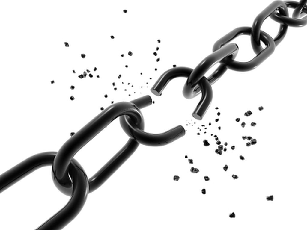 broken chain.