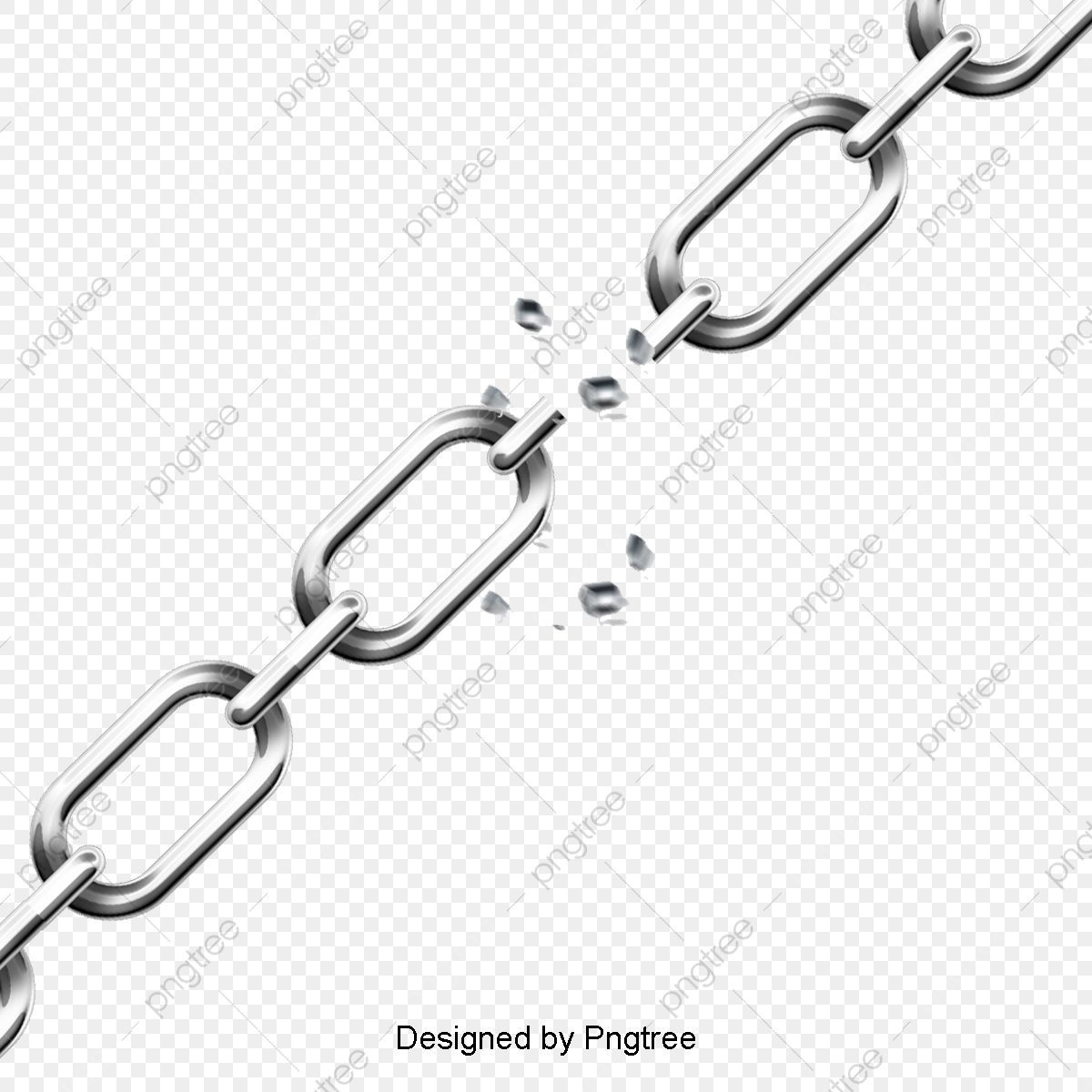Broken Chains, Chain, Shackle, Metal PNG Transparent Clipart Image.