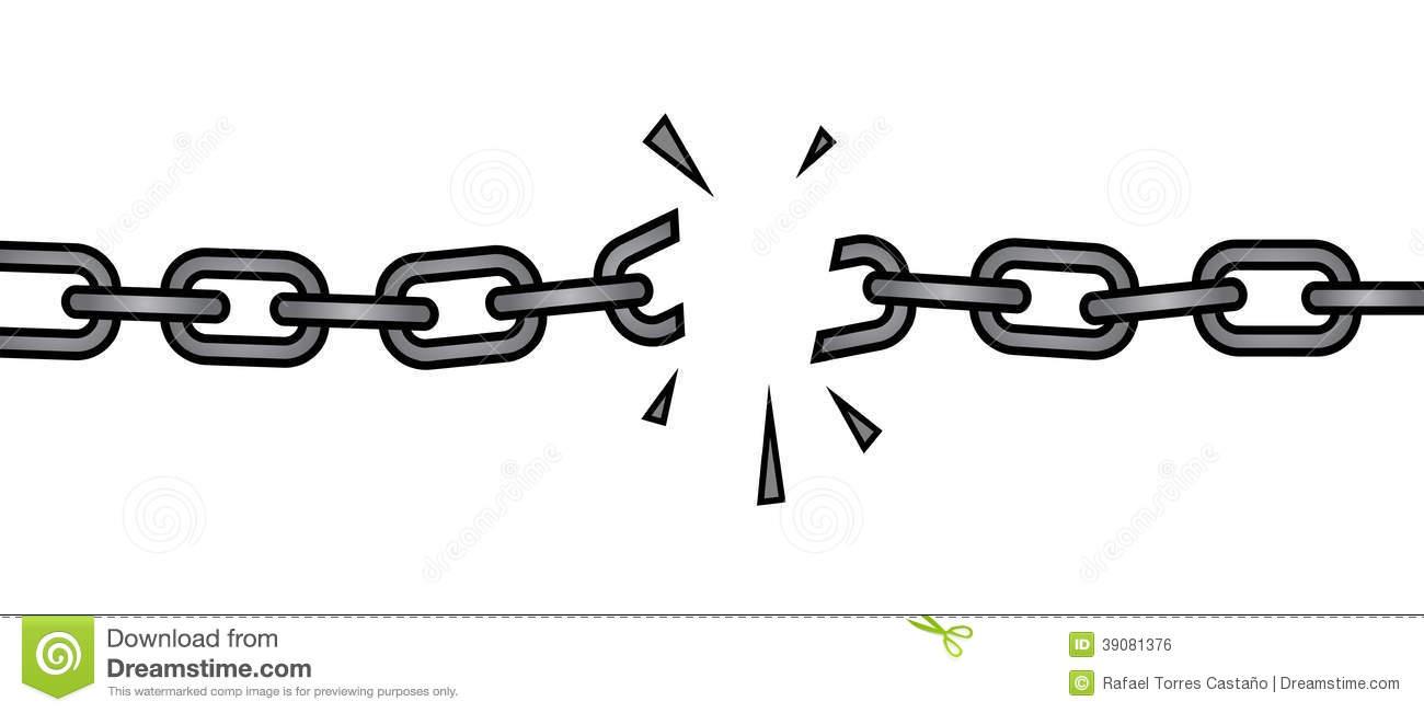 Broken Chain Stock Illustrations.