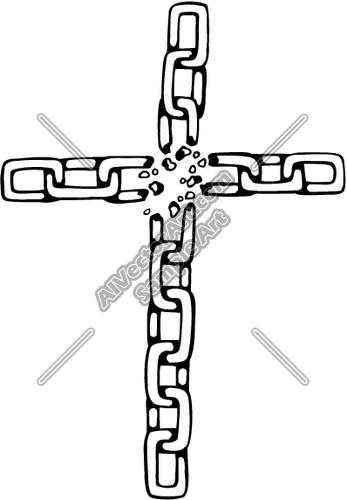 Broken Chain Cross Clipart and Vectorart: Tools.