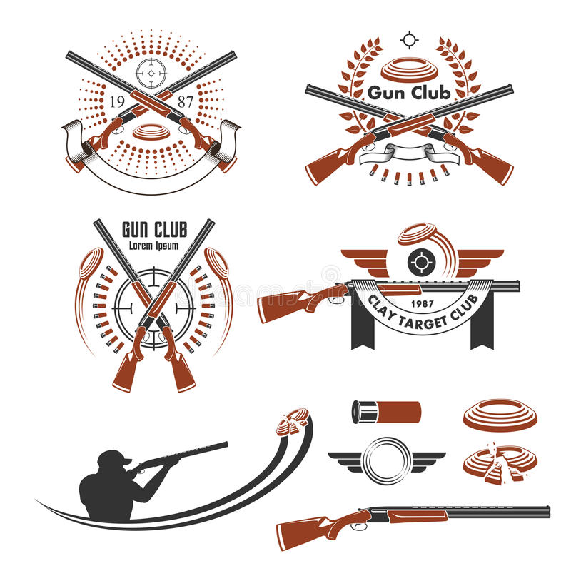 Clay Target Stock Illustrations.