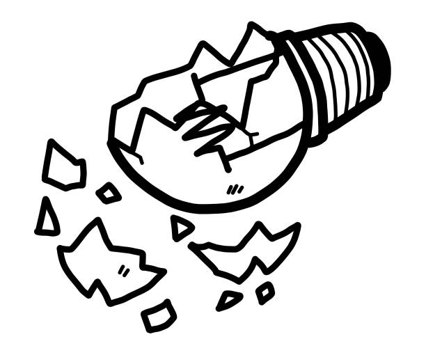 Best Broken Light Bulb Illustrations, Royalty.