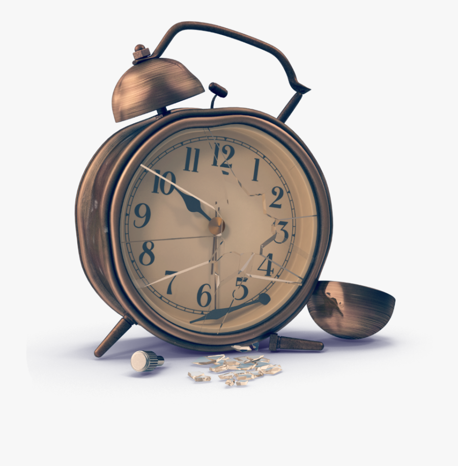 Transparent Broken Clock Clipart.