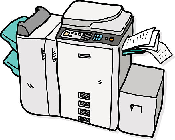 Royalty Free Broken Copier Clip Art, Vecto #258502.