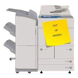Copier Repair Needs by School.