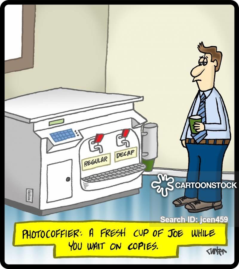Coffee Machine Cartoons and Comics.