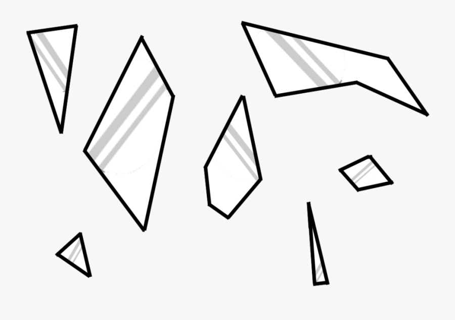 Collection Of Broken Glass Shards High Clipart , Png.