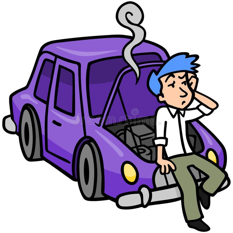 Car Broken Down Stock Illustrations.