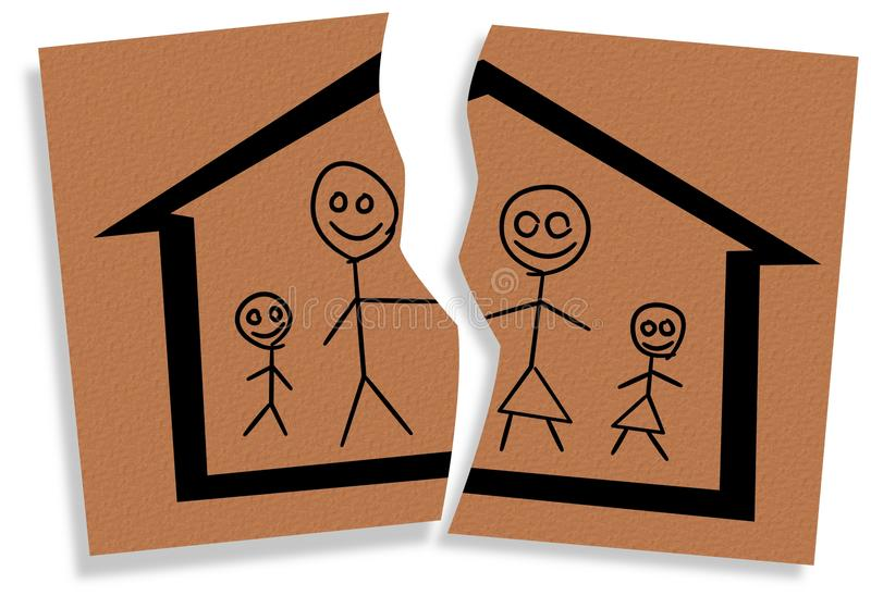 Broken Family Stock Illustrations.