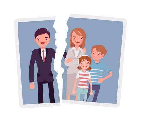 991 Broken Family Stock Illustrations, Cliparts And Royalty Free.