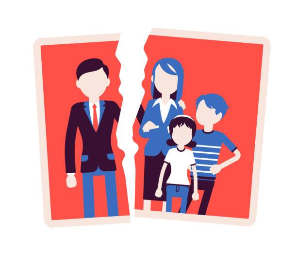 Best Broken Family Illustrations, Royalty.