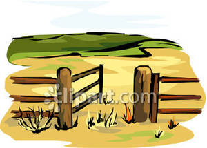 Wood Gate Clipart.