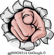Broken Finger Clip Art.