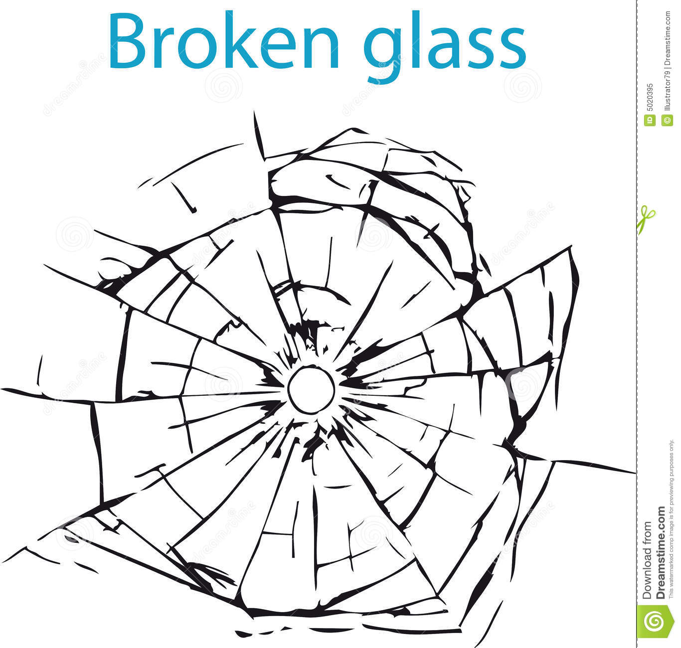 Broken glass clip art.