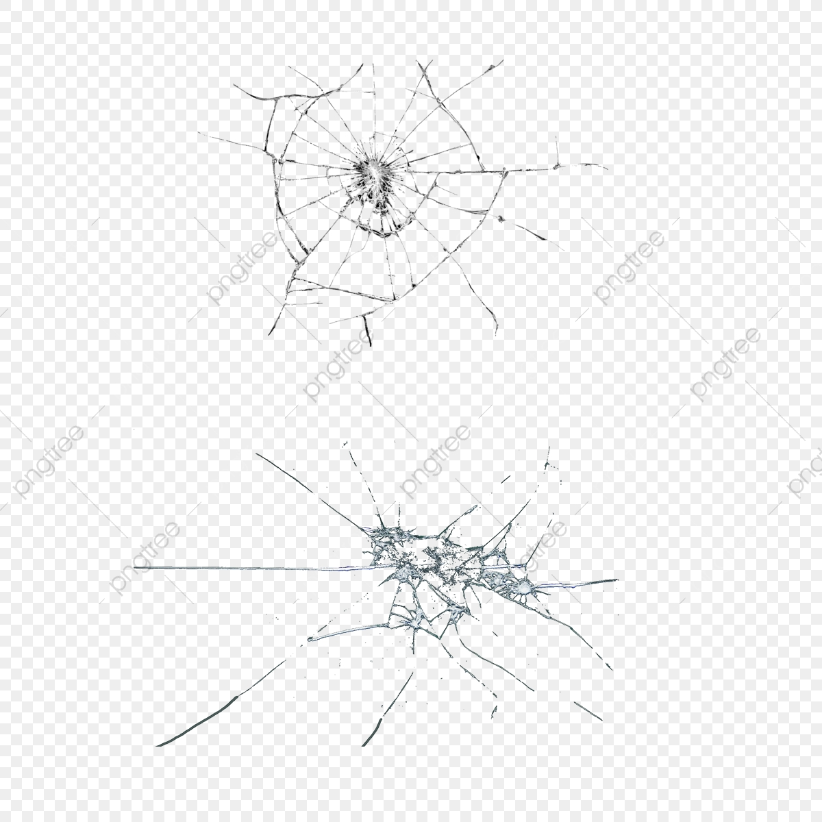 Broken Glass, Broken Mirror Image, Broken Glass Effect PNG.