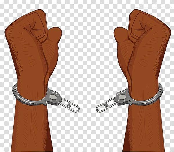 Handcuffs Illustration, Handcuffs broken transparent.